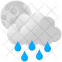 Clouds Moon Night Icon