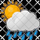 Clouds Rain Sun Icon