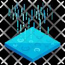 Rain Surface Isometric Icon