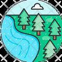 Rain River Forest Icon