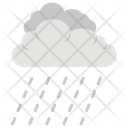 Drizzling Thunder Clouds Icon