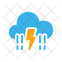 Rain And Lightning Icon