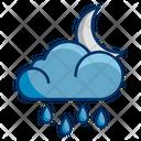 Moon Night Rain Icon