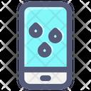 Smartphone Forecast Rain Icon