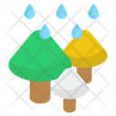Rain In Forest Icon