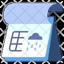 Rain Cloud Calendar Icon