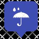 Rain Umbrella Location Icon