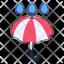 Rain Protection Umbrella Brolley Icon
