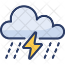 Rain Storm Lightning Thunderstorm Icon