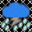 Rain Storm Thunderstorm Heavy Rain Icon