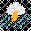 Rain With Storm Icon
