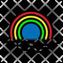 Weather Rainbow Sky Icon