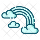 Rainbow Sky Cloud Icon