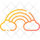 Rainbow Color Ful Cloud Icon