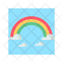 Rainbow Colorful Sky Icon