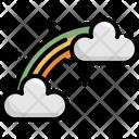 Rainbow Cloud Saint Patricks Day Icon