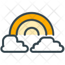 Rainbow Cloud Sky Icon