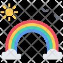 Rainbow Bird Sun Icon
