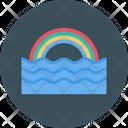 Rainbow Colors Ocean Icon