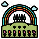 Rainbow Nature Field Icon