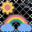 Rainbow Cloud Clearsky Icon