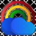 Rainbow Spring Cloud Icon
