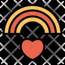 Love Marriage Rainbow Icon