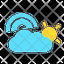 Rainbow Weather Cloud Icon