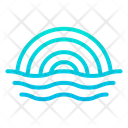 Sea Ocean Rainbow Icon