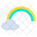 Cloud Colorful Sun Icon