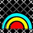 Rainbow Colorful Forecast Icon