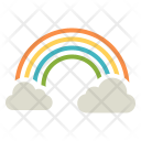 Rainbow Sun Cloud Icon
