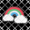 Rainbow Cloud Nature Icon