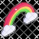 Rainbow Weather Color Spectrum Icon