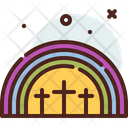 Rainbow Cross Easter Icon