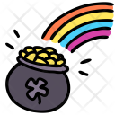 Rainbow Pot Money Icon