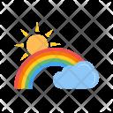 Rainbow Color Cloud Icon