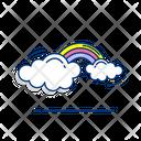 Rainbow Cloud Sky Icon