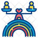 Rainbow Equality Scale Gender Equality Equality Icon