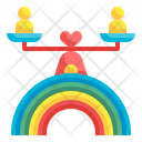 Rainbow Equality Scale Icon