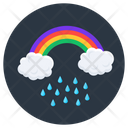 Rainbow With Rain Icon