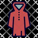 Raincoat Camping Gear Icon