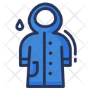 Raincoat Rainy Weather Icon
