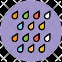 Raindrops Raining Weather Icon