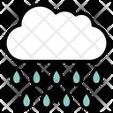 Cloud Raindrops Raining Icon