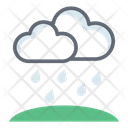 Cloud Raining Drizzling Weather Forecast Icon
