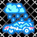 Rainfall Rain Cloud Raining Icon