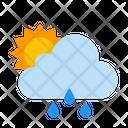 Cloud Forecast Raining Icon