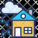 Raining Rainfall Cloudburst Icon