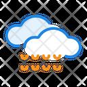 Rain Drops Cloud Icon